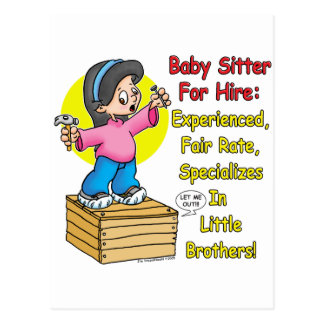 Babysitter for Hire Post Cards
