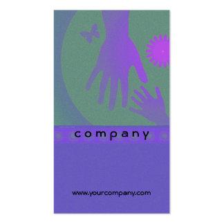 Babysitter Hands Violet Green Pack Of Standard Business Cards