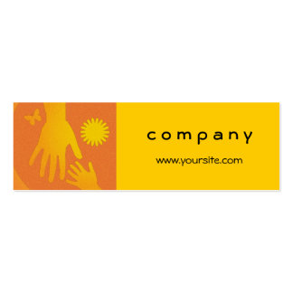 Babysitter Hands Yellow Orange Pack Of Skinny Business Cards