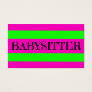 Babysitter Neon Green and Hot Pink