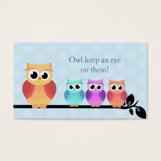 Babysitter Owl Business Cards