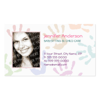 Babysitter Photo Personalized Teacher Pack Of Standard Business Cards