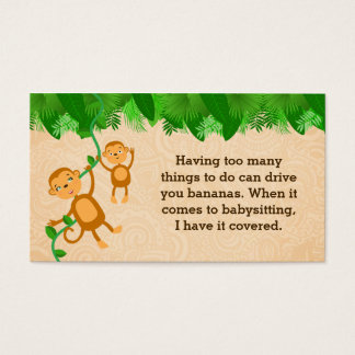 Babysitter Slogans Business Cards