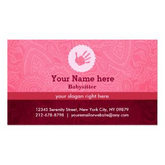 Babysitter slogans pack of standard business cards