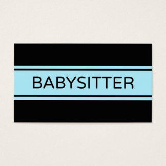 Babysitter Stripe Business Card
