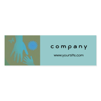 Babysitter Turquoise and Tan Hands Pack Of Skinny Business Cards