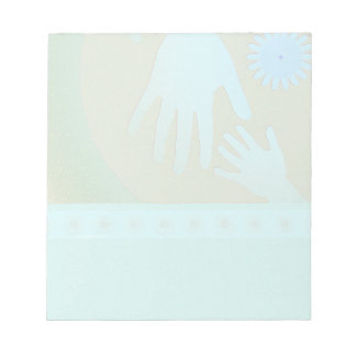 Babysitter Turquoise Tan Hands Scratch Pad