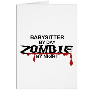 Babysitter Zombie Greeting Card