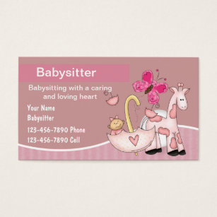 Babysitting business cards business card printing zazzle uk babysitting business cards colourmoves