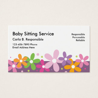 Babysitting Business Cards Business Card Printing