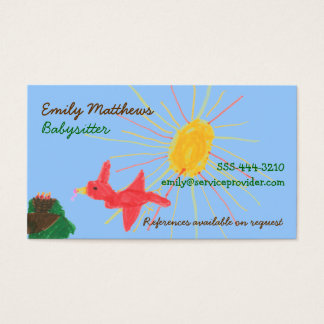 Babysitting Business Cards - Sunshine Scene