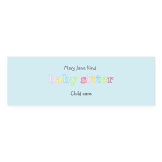 Babysitting & Child Care - Customizable Pack Of Skinny Business Cards
