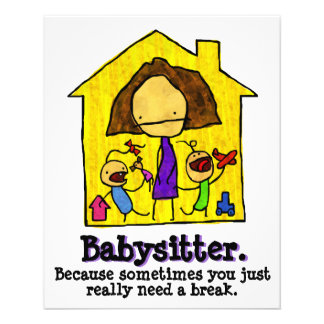 Babysitting. Child care. Day Care 11.5 Cm X 14 Cm Flyer