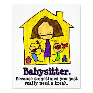 Babysitting. Child care. Day Care 11.5 Cm X 14 Cm Flyer