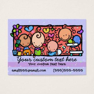 Babysitting Day care. Child care.Purple.