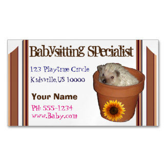 Babysitting specialist magnetic business cards