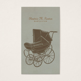 Babysitting Vintage Baby Carriage Simple Modern