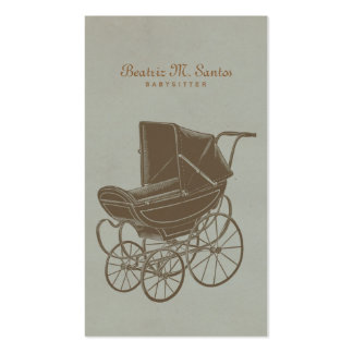 Babysitting Vintage Baby Carriage Simple Modern Pack Of Standard Business Cards