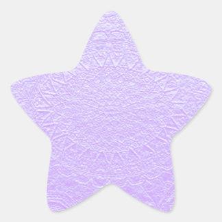 Babysoft Engraved Look Purple Star Sticker