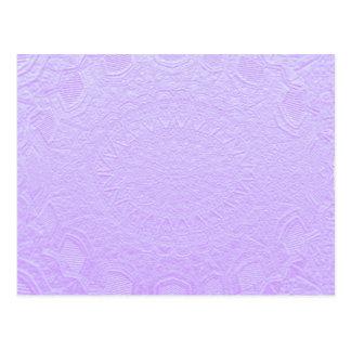 Babysoft Purple : Engraved SilverFoil Jewel Postcard