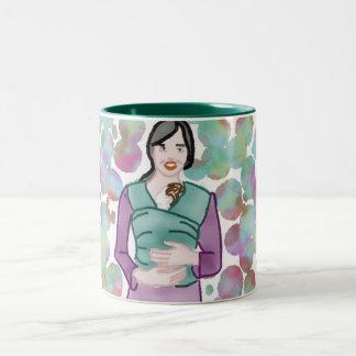 Babywearing a newborn Two-Tone coffee mug