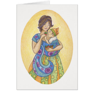 Babywearing: Mother and Child Greeting Card