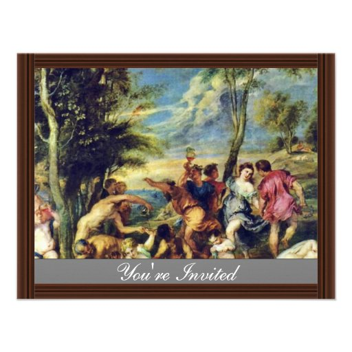 Bacchanal At Andros After A Painting Invites