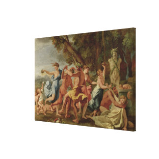 Bacchanal before a Herm, c.1634 Canvas Print