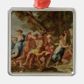 Bacchanal before a Herm, c.1634 Christmas Ornament