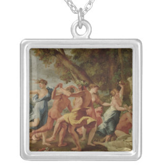 Bacchanal before a Herm, c.1634 Silver Plated Necklace