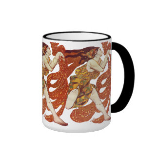 ´Bacchante´, costume - Ballets Russes Ringer Coffee Mug