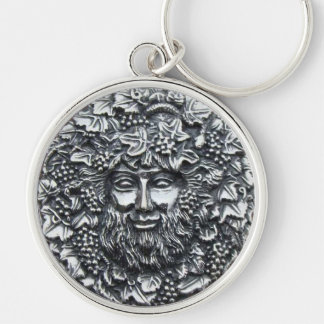 Bacchus 1 Silver-Colored round key ring