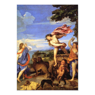 Bacchus and Ariadne by Titian 13 Cm X 18 Cm Invitation Card
