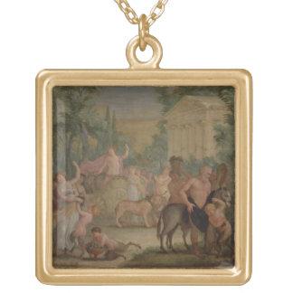 Bacchus and Ariadne (oil on canvas) 2 Pendant
