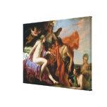Bacchus and Ariadne (oil on canvas) Canvas Print