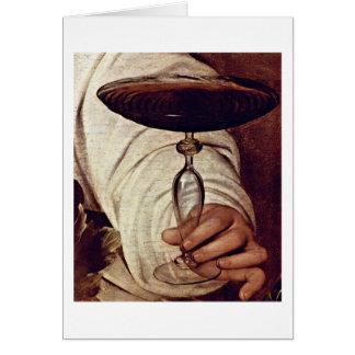 Bacchus By Michelangelo Merisi Da Caravaggio Greeting Card