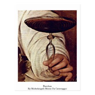 Bacchus By Michelangelo Merisi Da Caravaggio Postcard