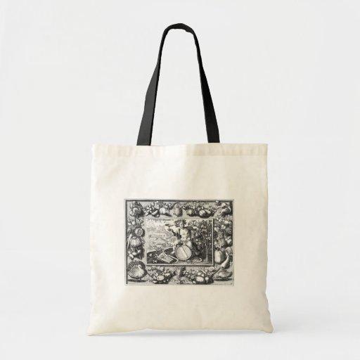 Bacchus god of wine canvas bag