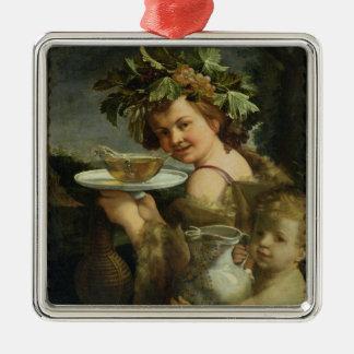 Bacchus (oil on canvas) christmas ornament