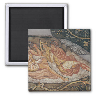 Bacchus Reclining, detail Square Magnet