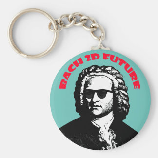 Bach 2D Basic Round Button Key Ring