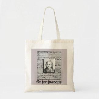 Bach Baroque Music Tote Budget Tote Bag