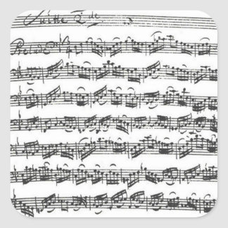 Bach Cello Suite Manuscript Square Sticker