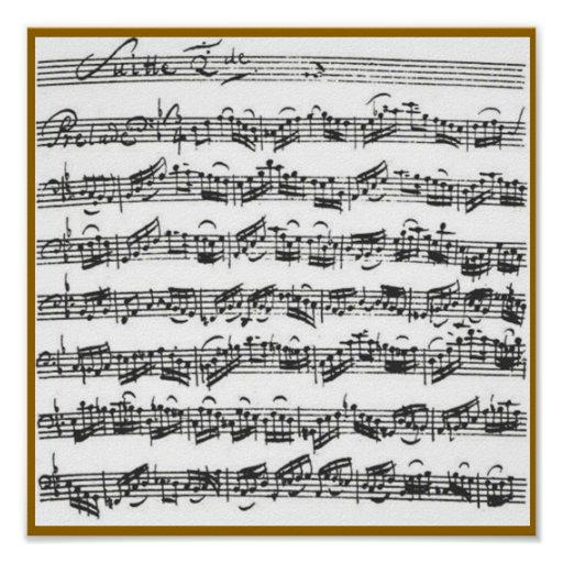 Bach Cello Suite Poster