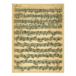 Bach Chaconne First Page Manuscript Facsimile Poster