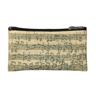 Bach Chaconne Manuscript for Solo Violin Cosmetics Bags