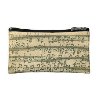 Bach Chaconne Manuscript for Solo Violin Makeup Bag
