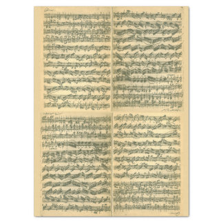 Bach Chaconne Manuscript for Solo Violin Tissue Paper