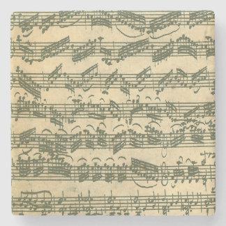 Bach Chaconne Manuscript Stone Coaster