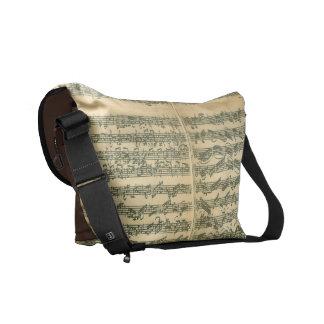 Bach Chaconne Music Manuscript Courier Bags